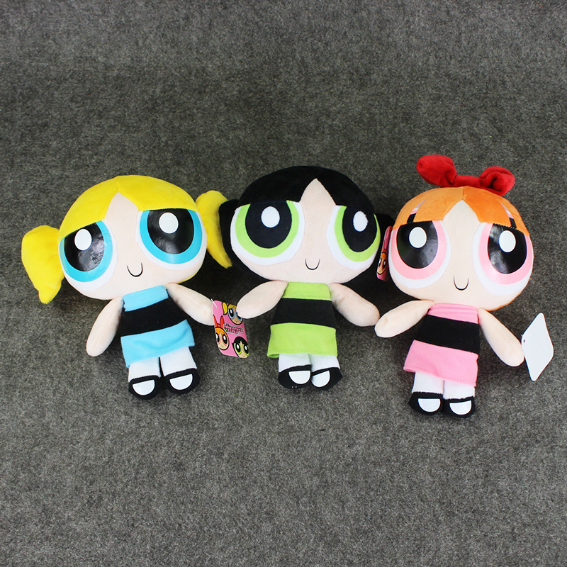 1pcs The Powerpuff Girls Bubbles Blossom Buttercup plush Stuffed Toy