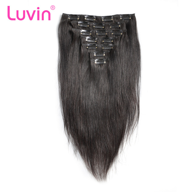Luvin clip in human hair extensions 100g natural color 7 pieces luvin clip in human hair extensions 100g natural color 7 pieces 100 brazilian remy hair pmusecretfo Image collections