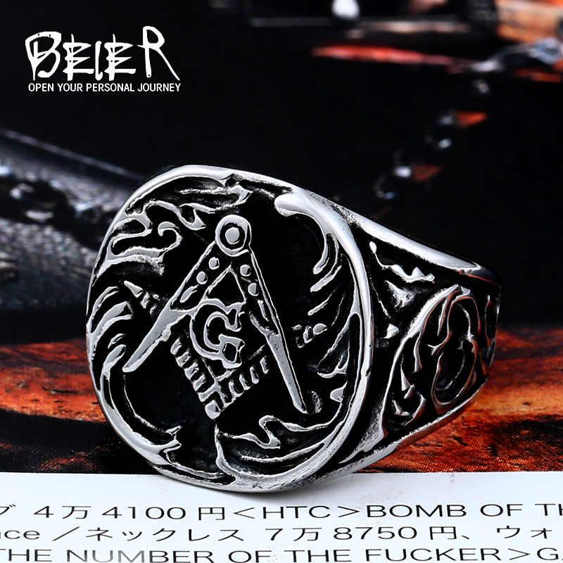 Apex Dynamics Toko Baru 316L Stainless Steel Cincin Kualitas Master Masonik Cincin Fashion Perhiasan BR8-107