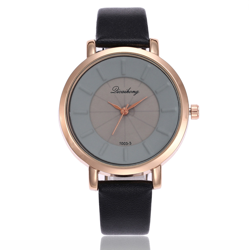 Women Fashion Leather Band Analog Quartz Round Wrist Watch Watches  women watches bracelet watch ladies girl clock F.2