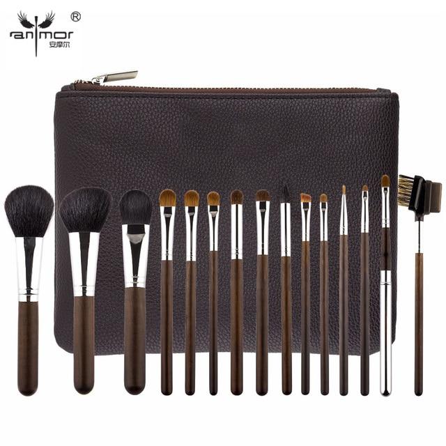 Top Quality 15 pcs Makeup Brushes Natural Hair Make Up Brushes Brand New Pincel Maquiagem Ancient Professional Makeup Brush Set