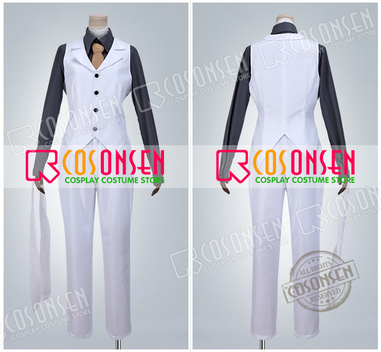 Bungo stray dogs: DEAD APPLE Dazai Osamu  Cosplay costume COSPLAYONSEN All Size full set Poly blend