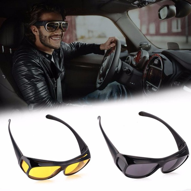 2b601ea6637 Men Women Sunglasses Unisex HD Vision Yellow Polarized Sunglasses Night  Vision Goggles Car Driving Glasses Eyewear
