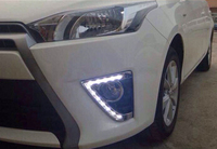 Car Styling LED Light New YARIS LED DRL 2014 2015 for Toyota YARIS DRL YARIS L Daytime Light bumper driving fog lamp cover
