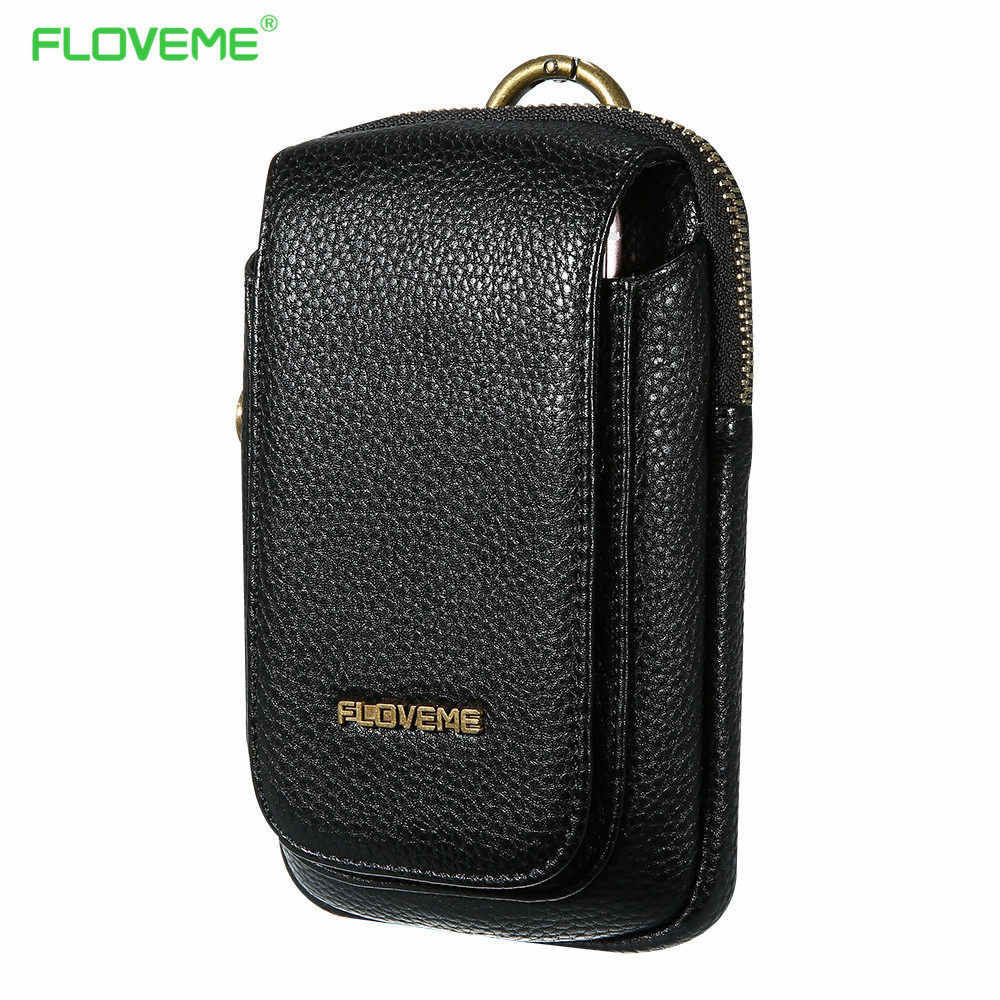 Floveme حقائب جلدية للآيفون 7 7 زائد 6 6 ثانية زائد حالة حقيبة لسامسونج غالاكسي s8 s7 حافة s6 s5 قضية الهاتف عالمية 5.5 بوصة