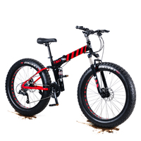 20 / 26inch Fat Tires Mountain Bike Folding Variable Speed Disc Brakes Snowmobiles Bike 4.0 Extra Large Tires Mountain Bicycle