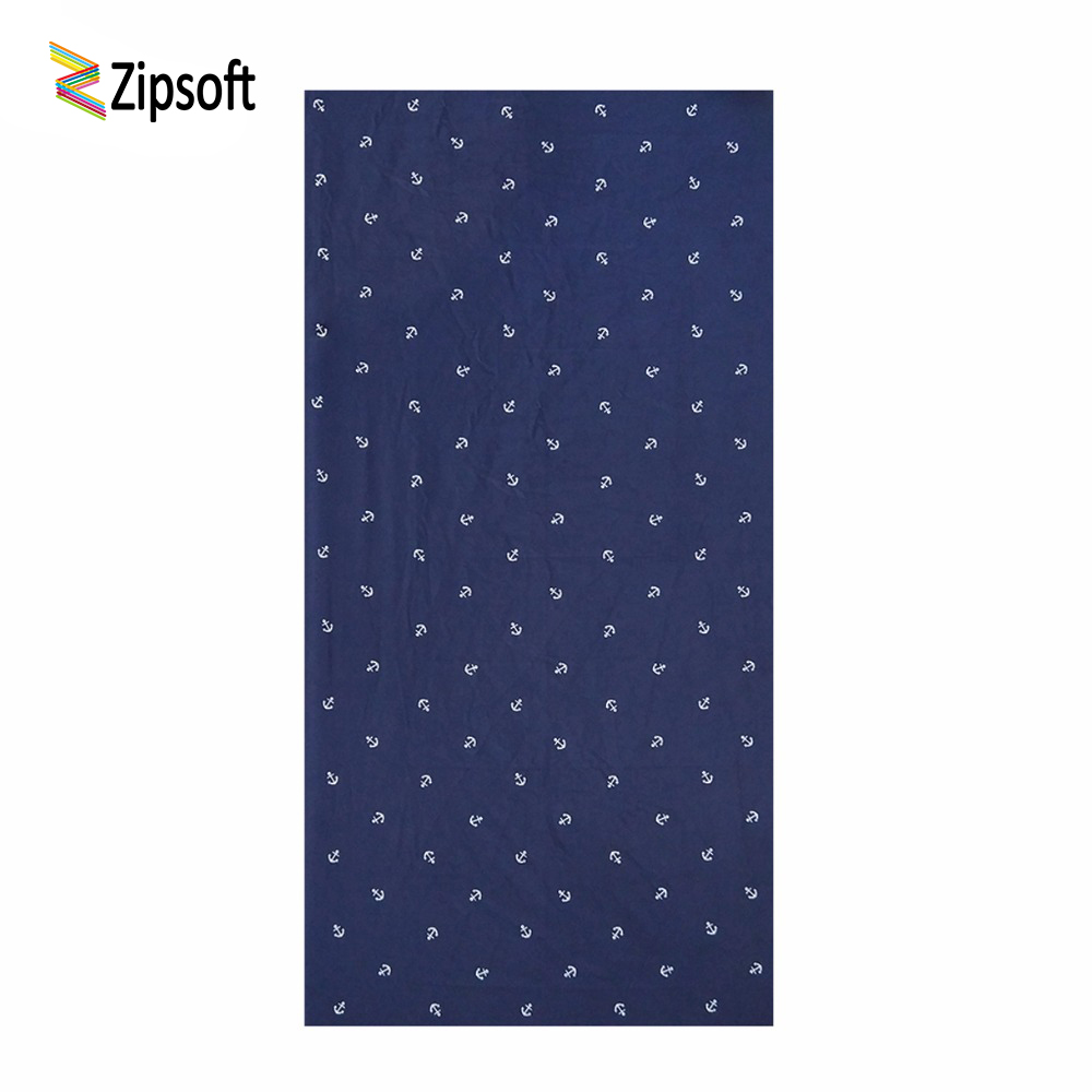 Zipsoft Brand Beach Towel 2018 Large Microfiber Anchor Towel for Adults Swimming Pool Gym Travel Hiking Camping Bath Quick Dry
