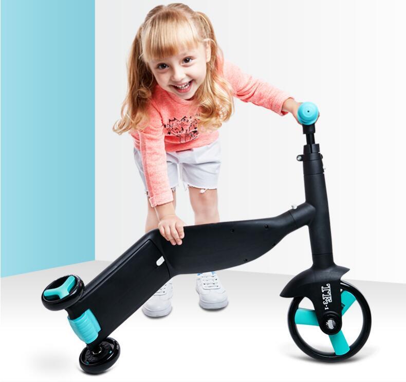 Niños bicicleta de equilibrio triciclo para chico bicicleta bebé carritos para caminar tren Scooter para niño juguete regalo - 2