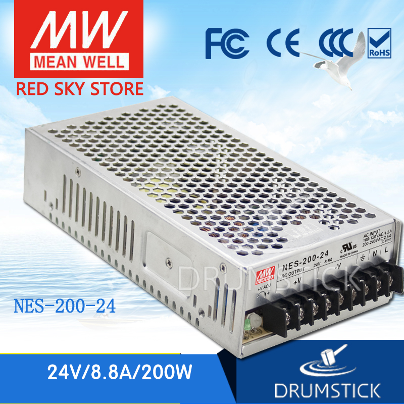 цены (12.12)MEAN WELL NES-200-24 24V 8.8A meanwell NES-200 211.2W Single Output Switching Power Supply