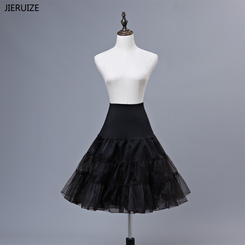 JIERUIZE Free Shipping Organza Underskirt For Cosplay Swing Short Dress Petticoat Lolita Wedding Dress Petticoat Tutu Skirt