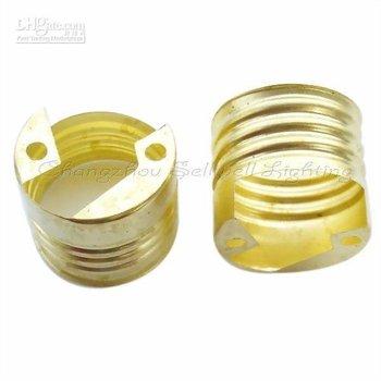 E27 Brass Small side loop Lampholder D223 sellwell lighting