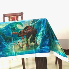 220*132cm 1pcs Moana tablecloth for favor kids girls birthday party decoration supplies