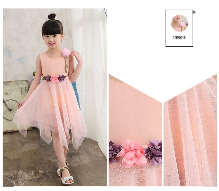 2019 Vestido de Verão para Crianças Meninas