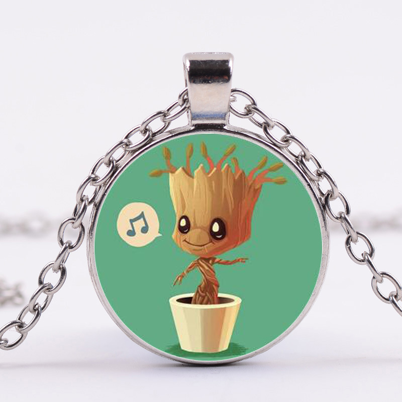 Guardians Of the Galaxy 2 Necklace Dancing Potted tree man Star-Lord Rocket Vinyl Baby Juguetes Toys Best Gifts for kids girls 2016 new arrival the guardians galaxy mini dancing tree man action figure model toy doll