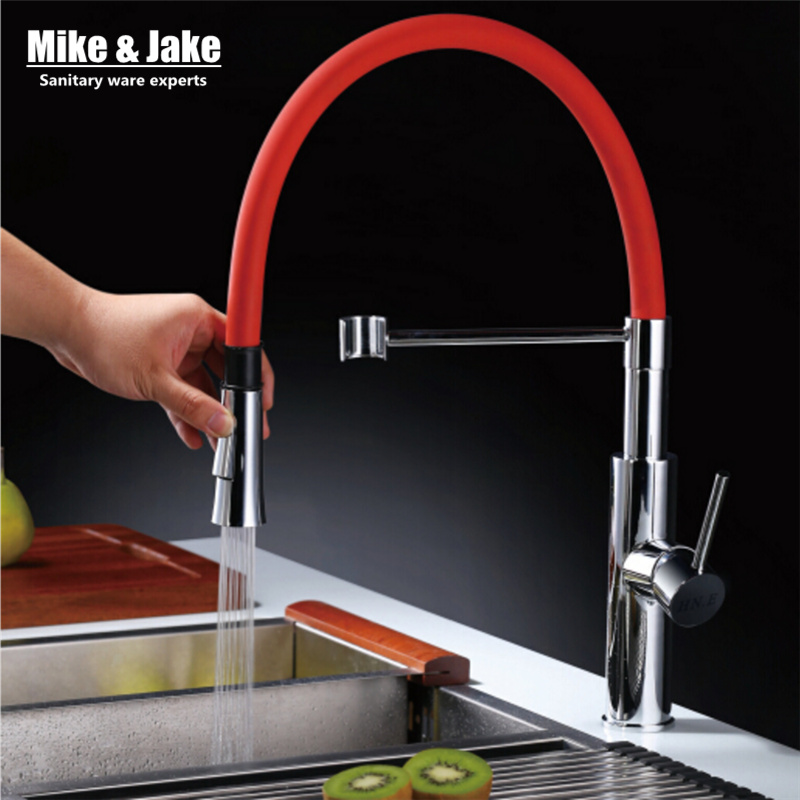 2015 New colorful kitchen FAUCET torneira cozinha white faucet water tap pull down water power kitchen