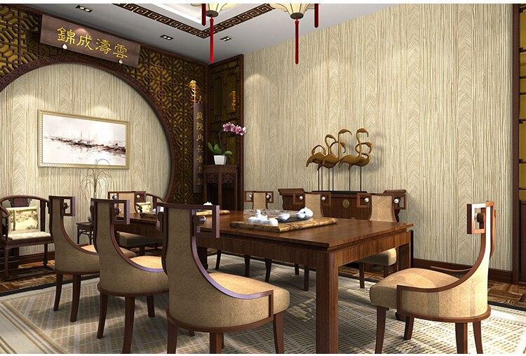 Papier peint chinois moderne Texture lin couleur unie Imitation paille fond mur hôtel couleur unie japonais bambou papier peint