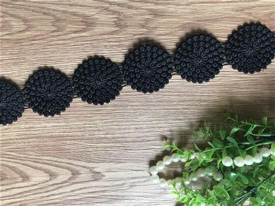 Черный Вениз Свадебный водорастворимый шитая кружевом ткань обрезанная лента DIY материалы для шиться ремесло для украшения костюма Десять