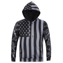 Hombres Cool Hoodies otoño manga larga 3D imprimir bandera americana patrón  Sweatershirts capucha masculino sudadera Sportwear bd233d5d7b2