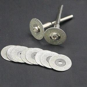 Image 2 - ใหม่ 60mm ตัดแผ่นเพชรสำหรับเจาะมินิ Dremel เครื่องมือเพชรแผ่นเหล็กเครื่องมือโรตารี่ใบเลื่อยวงเดือนขัดเลื่อยใบมีด