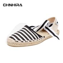Leinwand Espadrilles Frauenebenen Knöchelriemen Hanf Unten Fischer Schuhe Für 2017 Frühling/Herbst Frauen Müßiggänger # CH819