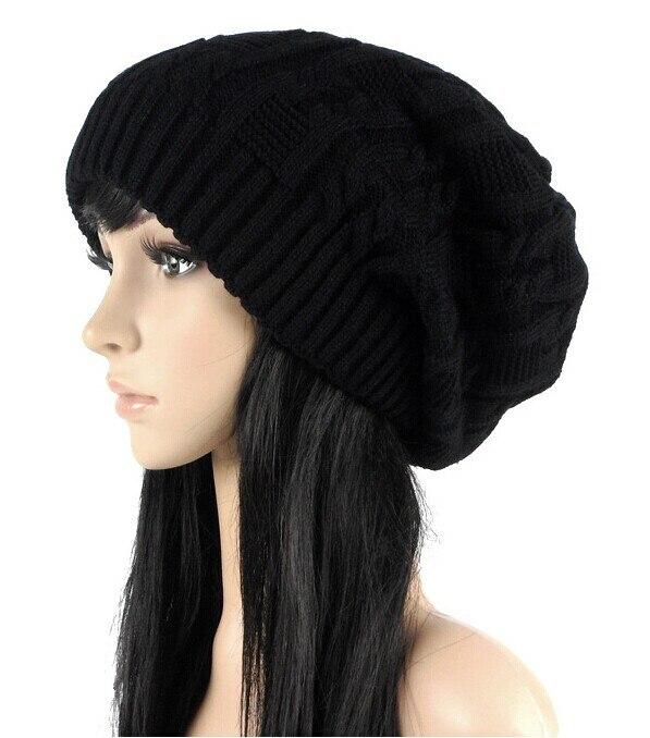 Vender como pan caliente moda gorras cálido otoño invierno de punto  sombreros para las mujeres rayas doble cubierta de punto de los hombres  gorros 6 colores ... 0c44b71490a