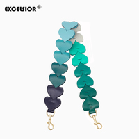 EXCELSIOR 2019 Colorful Bag Strap High Quality PU Leather New Arrivals Heart Shaped Handbag Strap Fashionable Decoration for Bag