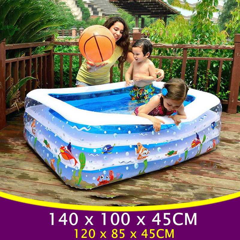 Large Square Baby Swimming Pool for Kids Inflatable Pool Plastic Swimming Pools Inflatable Swimming Pool Baby Kids Bathtub YP02