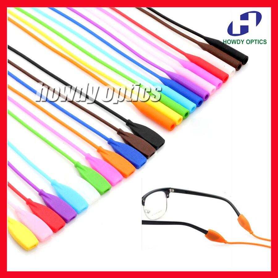 OT007 Retail Free Shipping Elastic Silicone Sunglasses Glasses Eyeglasses Cord Chain Eyewear Neck Holder Ear Hook