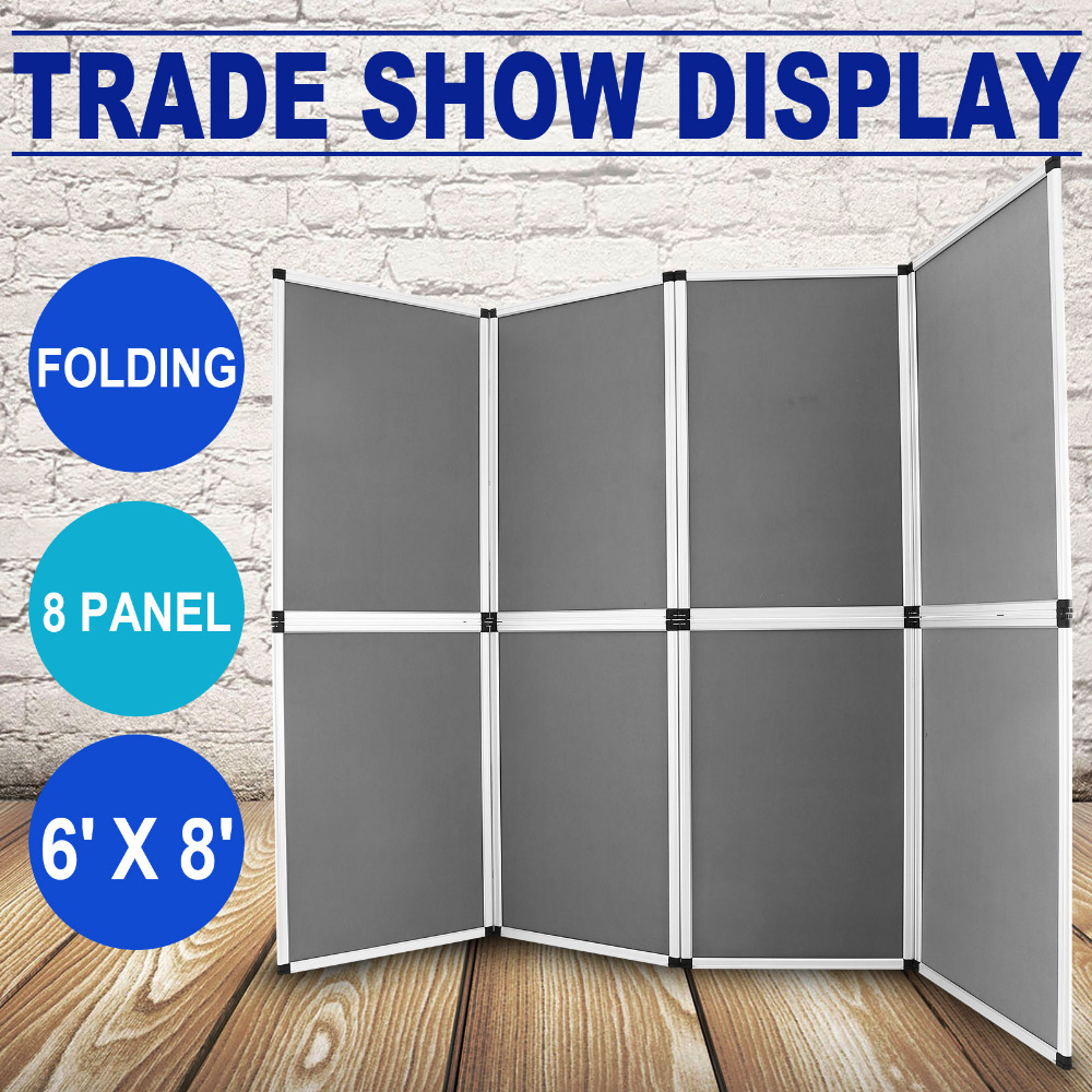 8 Panel Folding Trade Show Backdrop Booth Banner Exhibit Display