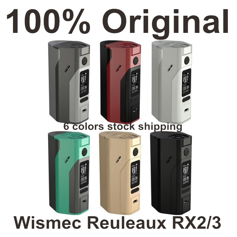 Electronic Cigarette Wismec Reuleaux RX2 3 TC 150W 200W Box Mod Vape Upgrade Temp Control Box