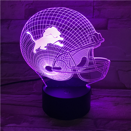 Peachy Details About 3D Nfl Lamp American Football Helmet Detroit Lions Led Light Furniture Gift Beutiful Home Inspiration Xortanetmahrainfo