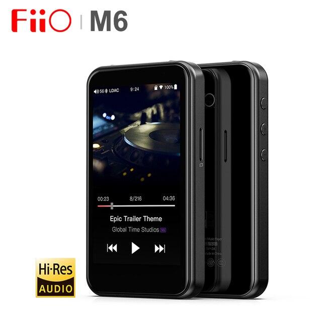 Fiio M6高解像度bluetoothハイファイ音楽ポータブルMP3プレーヤーusb dac ES9018Q2Cベースandroidとaptx hd ldac wifiエアプレイdsd