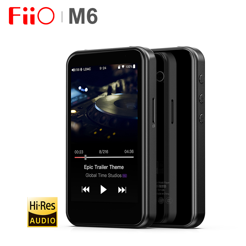 Fiio m6 hi-res bluetooth alta fidelidade música portátil mp3 player usb dac es9018q2c baseou android com aptx hd ldac wifi jogo de ar dsd