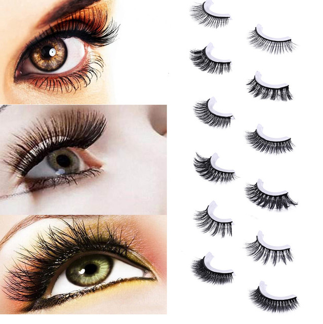 bdb50c05b14 2018 new Natural Fashion Self adhesive Eyelashes Eye Makeup Handmade Long False  Lashes Thick Sparse #0321 BB
