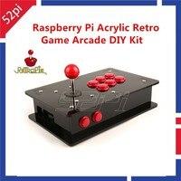 52Pi Raspberry Pi 3 акрил Ретро Аркада DIY Kit с USB джойстик Управление доска + Аркады Пуговицы + джойстик + акриловая