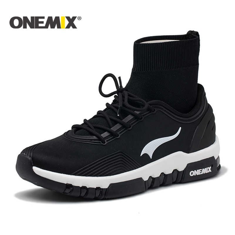 Onemix yeni koşu ayakkabıları erkekler açık yürüyüş botları çift yüksek top sneakers çok fonksiyonlu trekking sneaker kadın ücretsiz kargo