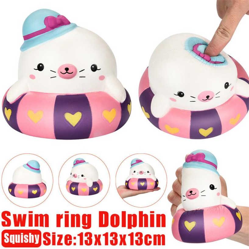 13 см мягкое кольцо для плавания Дельфин ароматизированный медленно поднимающийся игрушка-Антистресс игрушка для детей сжимаемые игрушки 2018MAR29