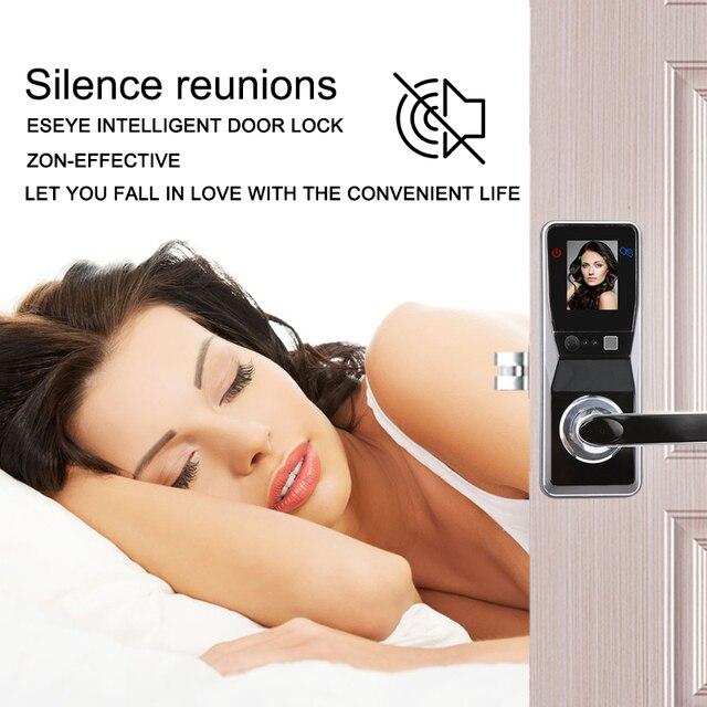 Eseye Smart Door Lock Fingerprint Door Lock Facial Recognition Intelligent Electronic Lock Door Smart Safe For Home Anti-theft