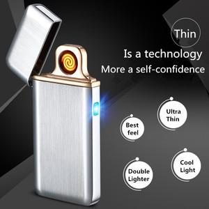 Image 4 - Encendedor de pulso Palsma, mechero USB recargable, mechero electrónico Ultra delgado, Encendedor de cigarrillos, Encendedor de cigarros, nombre láser gratis