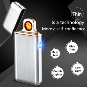 Image 4 - Palsma Pulse Lighter USB Lighter Rechargeable Electronic Lighter Ultra Thin Cigarette Lighter Encendedor Cigar Free Laser Name