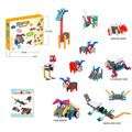 12 in 1 Animals Block Kit Remote Control RC Blocks Set Education Creative Toy 173Pcs - Color Random