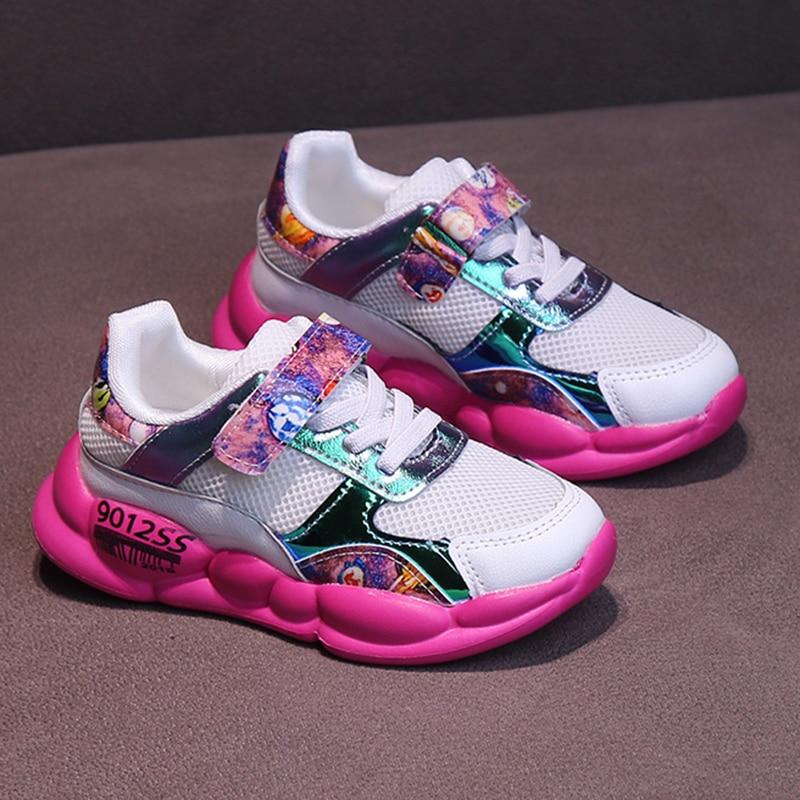 ULKNN çocuklar örgü nefes spor ayakkabı erkek rahat kızlar koşu ayakkabıları büyük çocuklar 2019 sonbahar yeni çocuk ayakkabıları|Tenis Ayakk.|Anne ve Çocuk - title=