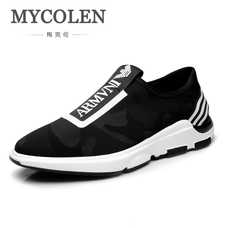 MYCOLEN 2018 New Spring Shoes Men Luxury Fashion Designer Sneakers Casual Male High Quality Men Shoes Flats Zapatillas Hombre mycolen new autumn winter men black casual shoes men high tops fashion hip hop shoes zapatos de hombre leisure male botas