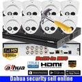 Dahua 8 Ch аудио HD CCTV 1080P DVR DH-XVR5108HS система безопасности с 8*1080P IR 20 м наружная HDCVI купольная камера