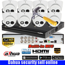 Dahua 8 Ch audio HD Surveillance CCTV 1080P DVR DH-XVR5108HS security System with 8*1080P IR 20M outdoor HDCVI Dome Camera