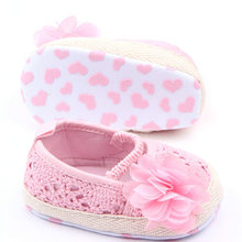 Hot 0-12M Baby Infant Girl Soft Sole Anti-slip Crochet Knitborn Breathable Knitting Fretwork Slip-on Shoes(China)