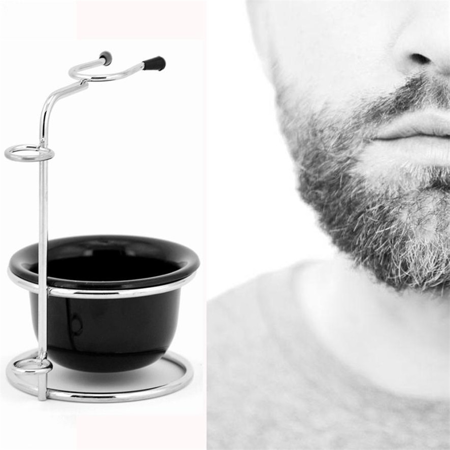 2018 New 1PC Multifunctional Men's Beard Removal Shave Grooming Set Manual Razor Bowl Safety Stand Men's Styling Accessory Tool