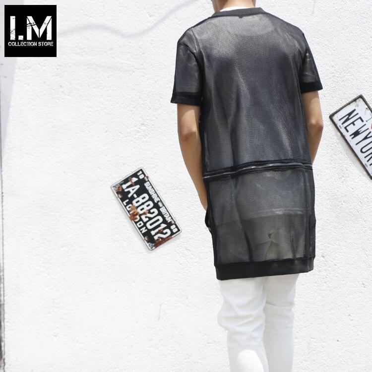 Conception Perspectivité De Manches Costumes 2015 Longue Cardigan Découpe Courtes Démontage Shirt Reticularis Vêtements Hommes Chanteur T À Scène xxXq60