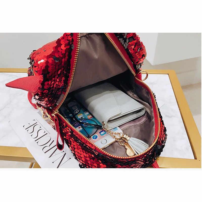 2018 мини-женский рюкзак для девочек Блестящий Серебряный Ангел розовый рюкзак женская сумка из искусственной кожи мужские школьные сумки для подарка на День святого Валентина