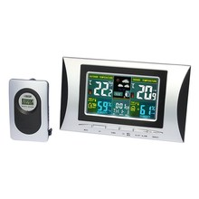 Thermometer Digital Hygrometer Clock Weather Calendar Temperature HumidiProjector Alarm Color for Household
